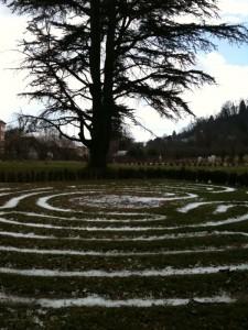 Labyrinth beim Schloss Beuggen