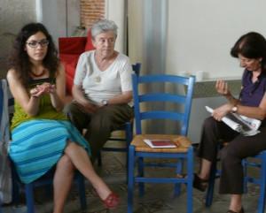 Luisa Muraro bei einem Diotima-Treffen im Sommer 2011. Foto: Antje Schrupp