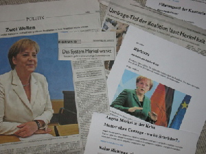 Angela Merkel in der Presse