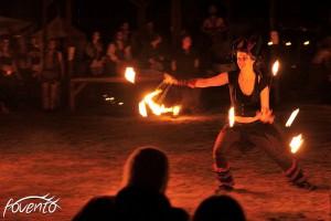 Feuerspielerinnen auf dem Mythodea.