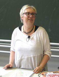 Antje Schrupp sprach über das Schwangerwerdenkönnen. Foto: Verena Lettmayer