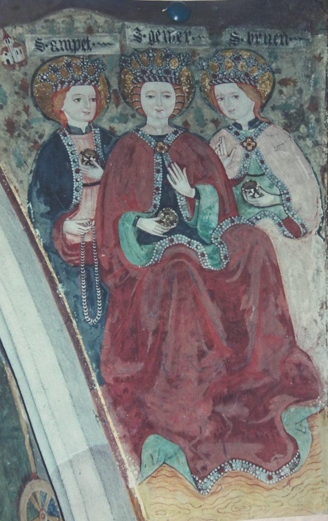 Die drei Bethen Ampet, Gewer und Bruen in der St. Nikolaus Kirche in Klerant oberhalb von Brixen.